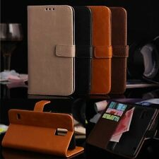 Luxury Leather Flip Card Wallet Case Stand Cover For Samsung Galaxy S5 SV I9600