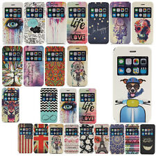 Open Window Wallet PU Leather Flip Stand Cover Case For Apple iPhone 6 / 6 Plus