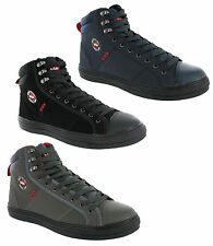 New Mens Lee Cooper Steel Toe Cap Hi Top Skate Style Safety Work Boots Size 4-12