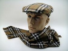 NEW CLASSIC BURBERRY DRIVING CAP SCARF 100% WOOL Goodwood FASHION QUALITY LUXE