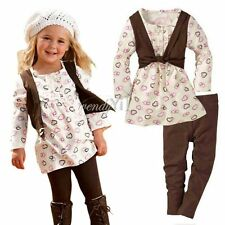 Baby Girl Kid 2 PCS Outfit Set Dress Top Legging Pants Xmas Costume NWT 1-6 Year