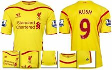 *14 / 15 - WARRIOR ; LIVERPOOL AWAY SHIRT SS + PATCHES / RUSH 9 = SIZE*
