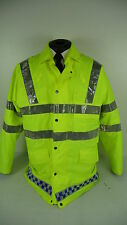 Hii vis viz Ex Police Security Steward Waterproof Lined Jacket Coat  MU197