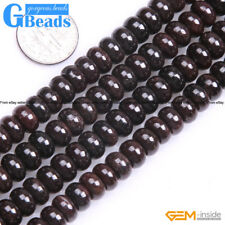 """Natural Smooth/Faceted Garnet Rondelle Loose Beads For Jewelry Making Strand 15"""""""