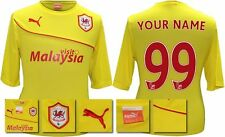 *13 / 14 - PUMA ; CARDIFF CITY AWAY SHIRT SS + PATCHES / PERSONALISED = SIZE*