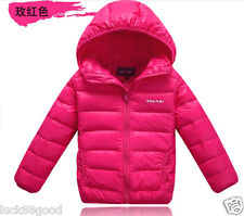 new children's short paragraph baby boys and girls down jacket coat