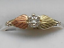 NEW Black Hills Gold and Silver with CZ  Women's Ring Size 5-6-7- 8 with Box