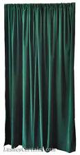 "72"" H Forest Green Velvet Curtain Panel w/Rod Pocket Top Drape Window Treatments"