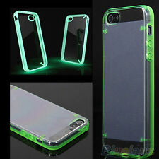 HOT SALE TRANSPARENT SKIN HYBRID CASE COVER LUMINOUS GLOW FOR APPLE IPHONE 4 5 6