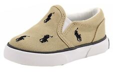 Polo Ralph Lauren Toddler Bal Harbour Repeat Fashion Khaki/Navy Sneaker Shoes