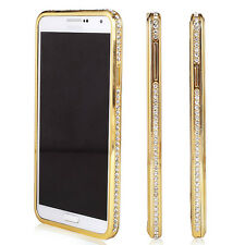 2014 Bling Diamond Crystal Hard Metal Frame Case Cover For Samsung Galaxy Note 4
