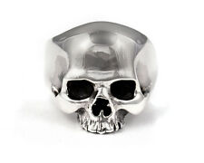 HIGH POLISH WARRIOR SKULL RING STERLING SILVER 925 -SIZE 6.5-15