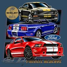 Mustang Shelby Private Reserve T-Shirt with GT350 & GT500 Carroll Shelby Legend