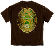 New  T-Shirt with Beer Label Bottle Cap Irish Police Law Enforcement  Design