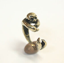 Solid Bronze Amazon Sloth Ring Animal Fashion Jewelry Adjustable 322