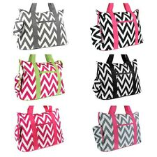 Roomy Chevron Print Large Tote Shoulder Purse School Book Gym Bag or Diaper Bag