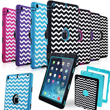 Shockproof Heavy Duty Rubber Hard Case Cover For Apple iPad Air 1st Gen 2013