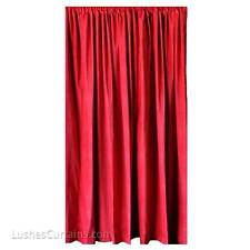 Custom Red Velvet 14 ft Drop Curtain Panel Extra Long Nightclub/Bar/Lounge Drape