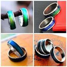Fashion Color Changing stainless steel RING Mood Ring 8mm A155