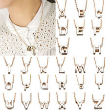 Fashion Stylist Women Gift Gold plate Letter name Initial chain Pendant Necklace