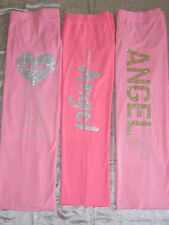Nwt VICTORIAS SECRET Pink Supermodel Sweat Pants Bottoms ANGEL Heart Bling