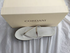 New Women Cordani Muri Slide Sandal Silver Leather Szie 5, 6, 7 $175 Eur 35-37