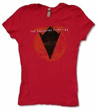 "SMASHING PUMPKINS ""PYRAMID"" GIRLS JUNIORS RED T SHIRT NEW OFFICIAL"