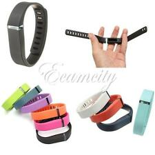 Large/Small Replacement Sport Wrist Band w/ Metal Clasp For Fitbit Flex Bracelet
