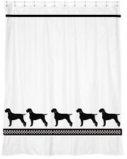 German Wirehaired Pointer Shower Curtain *Your Choice of Colors* Our Original