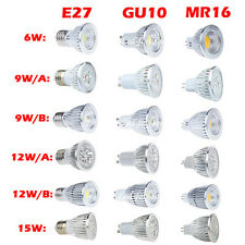 Brillante Bombillas MR16 GU10 E27 6W 9W 12W 15W Dimmable LED COB Focos Bulb Lamp