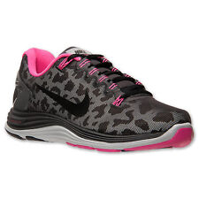 Nike Lunarglide+ 5 Shield Womens sz Running Shoes Leopard Black Pink 615980 006