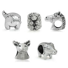 925 Sterling Silver Animal European Charm Bead