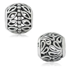 925 Sterling Silver Filigree European Charm Bead