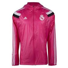 BNWT Adidas 2014/15 REAL MADRID Pink Soccer Football Anthem Walk Out Jacket Top