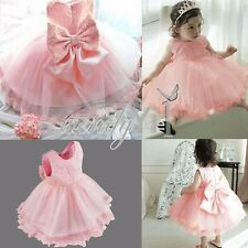 Flower Baby Girl Sleeveless Dress Wedding Bridesmaid Birthday Pageant Graduation