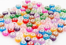 Mix Colour lampwork Acrylic Crystal beads fit for charms bracelet 10pcs
