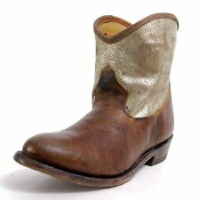 ASH Italy Judy mexican boots in leather Camel/platine
