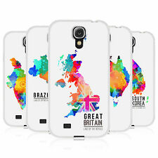 HEAD CASE WATERCOLOURED MAPS GEL BACK CASE COVER FOR SAMSUNG GALAXY S4 I9500