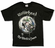 "MOTORHEAD ""THE WORLD IS YOURS TOUR 2011 (TULSA-MISSOULA)"" BLK T-SHIRT NEW ADULT"
