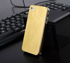 New Ultra-thin Brushed Aluminum Metal Back Case Cover For Apple iPhone 4/4S/5/5S