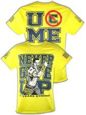 John Cena Ten Years Strong Mens Cotton Yellow T-shirt
