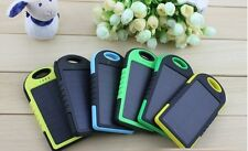 5000mAh Dual USB Portable Solar Panel Battery Charger Power Bank For iphone 6 5s
