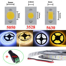 5M LED Strip Light 5050 5630 3528 SMD Flexible White LED Tape DIY Lamp / Adapter