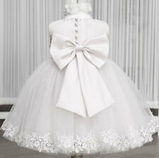 Butterfly Flower girl dress baby princess bow layered ball gown wedding toddler