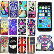 Hard Back Plastic Shell Cell Phone Cover Case For Various Apple iPhone Models