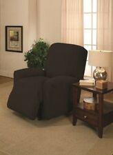BLACK RECLINER COVER-ALSO COMES IN SOFA COUCH LOVESEAT CHAIR & FUTON SLIPCOVERS