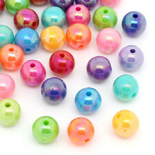 Wholesale HOT! Jewelry Spacer Beads Acrylic AB Color Round 8mm Dia. Mixed