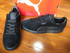 NEW PUMA SUEDE CLASSIC +LFS MENS SHOES TRIPLE BLACK 356328 01 $59.00