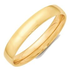 4mm 10K Yellow Gold Comfort Fit or Half Round Wedding Ring Band Size 5-13