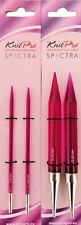 KNITPRO FLAIR ACRYLIC PINK INTERCHANGEABLE NEEDLE TIPS SIZES 3.5mm - 12mm